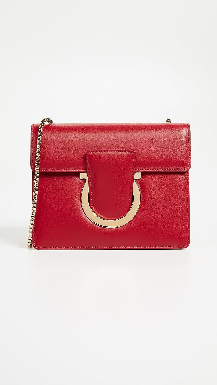 Amazon.com  Salvatore Ferragamo Women s Thalia Small Shoulder Bag ... c0b2f14f056a5