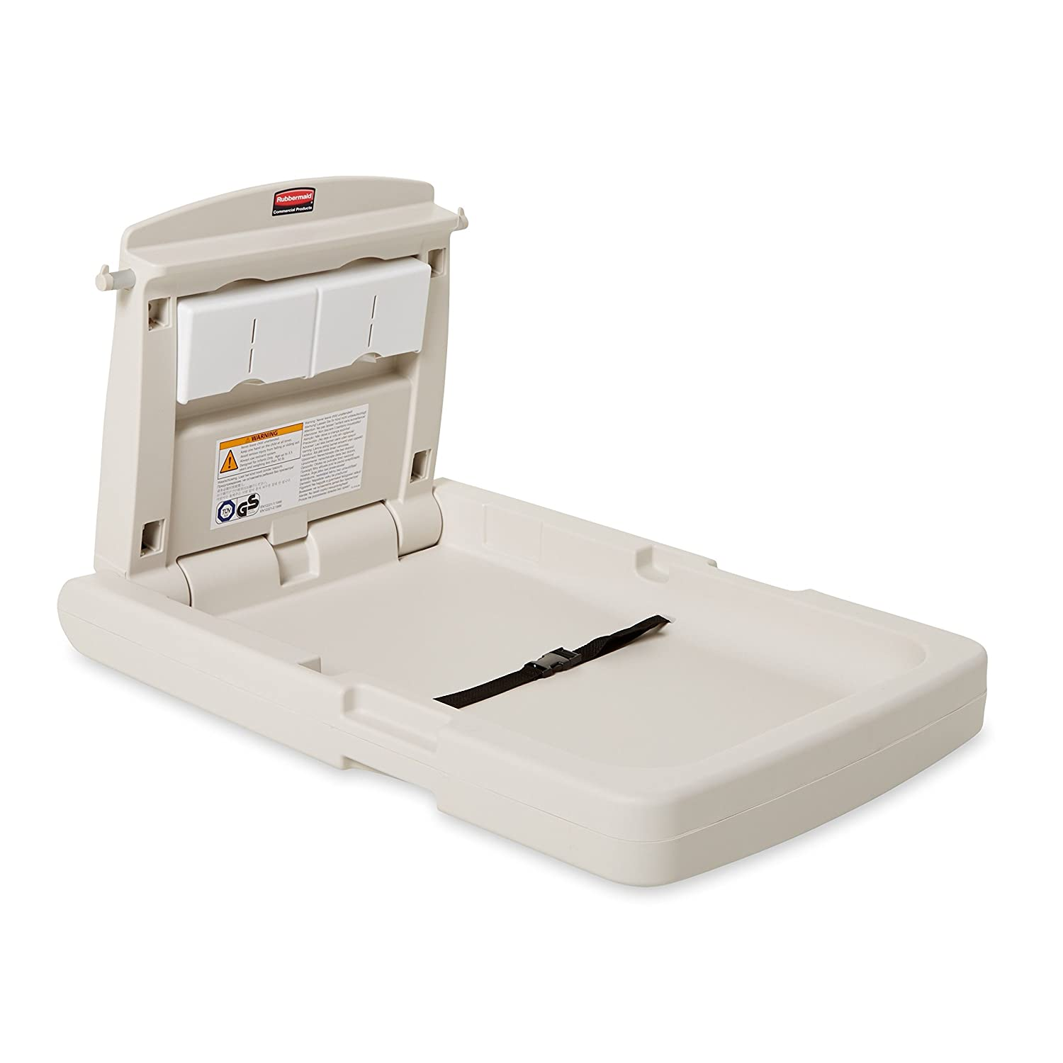 Rubbermaid Commercial Horizontal Baby Changing Station, 33.25-Inch Length x 21.5-Inch Width x 4-Inch Height, Light Platinum (FG781888LPLAT)