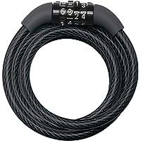 Master Lock Fietskabelslot [Combinatie] [1,2 m Oprolkabel] [Buiten] 8143EURDPRO - voor (Elektrische) fietsen…