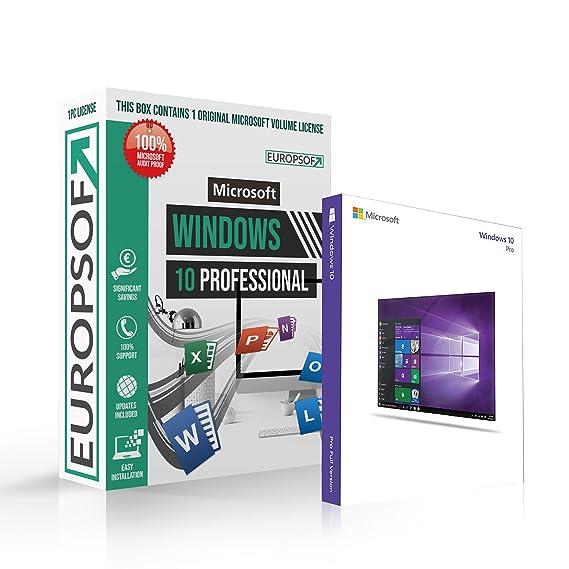 Microsoft Windows 10 Professional Pro Dvd Mit Original Lizenz