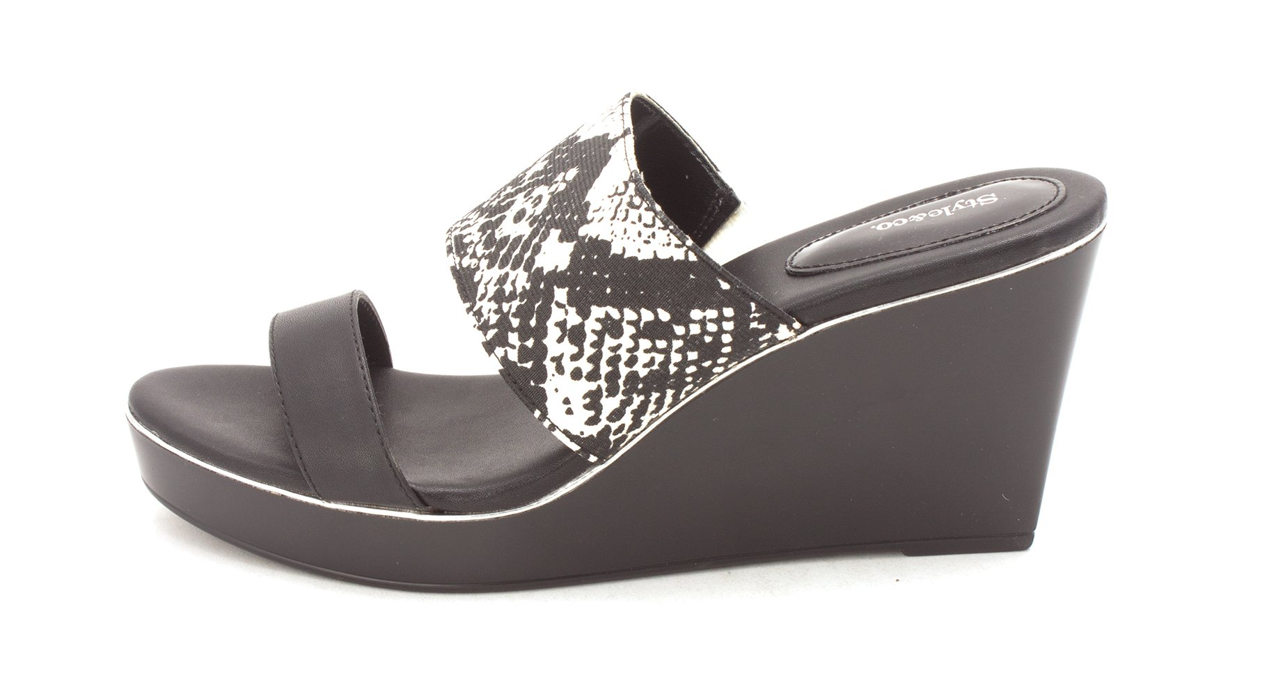 Style & Co. Women's Sandals & Flip Flop, Black Snake, Size 7.5