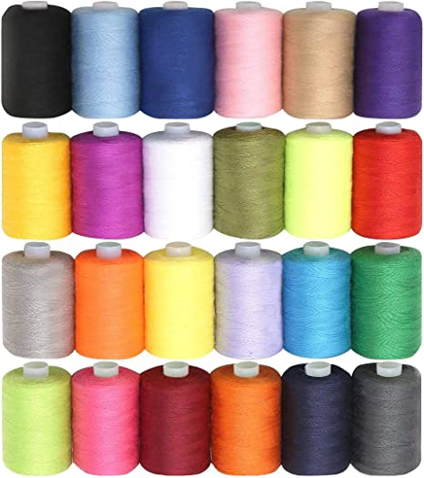 satz Polyester Nähgarn Quiltspulen Gebogene Nadeln Allzweck 34 Teile