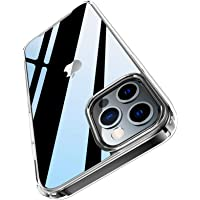 PILIPAPA Crystal Clear Case Compatible with iPhone 12 Pro Max Case, [Anti -Yellowing] [Airbag Protection] Hard Back with…