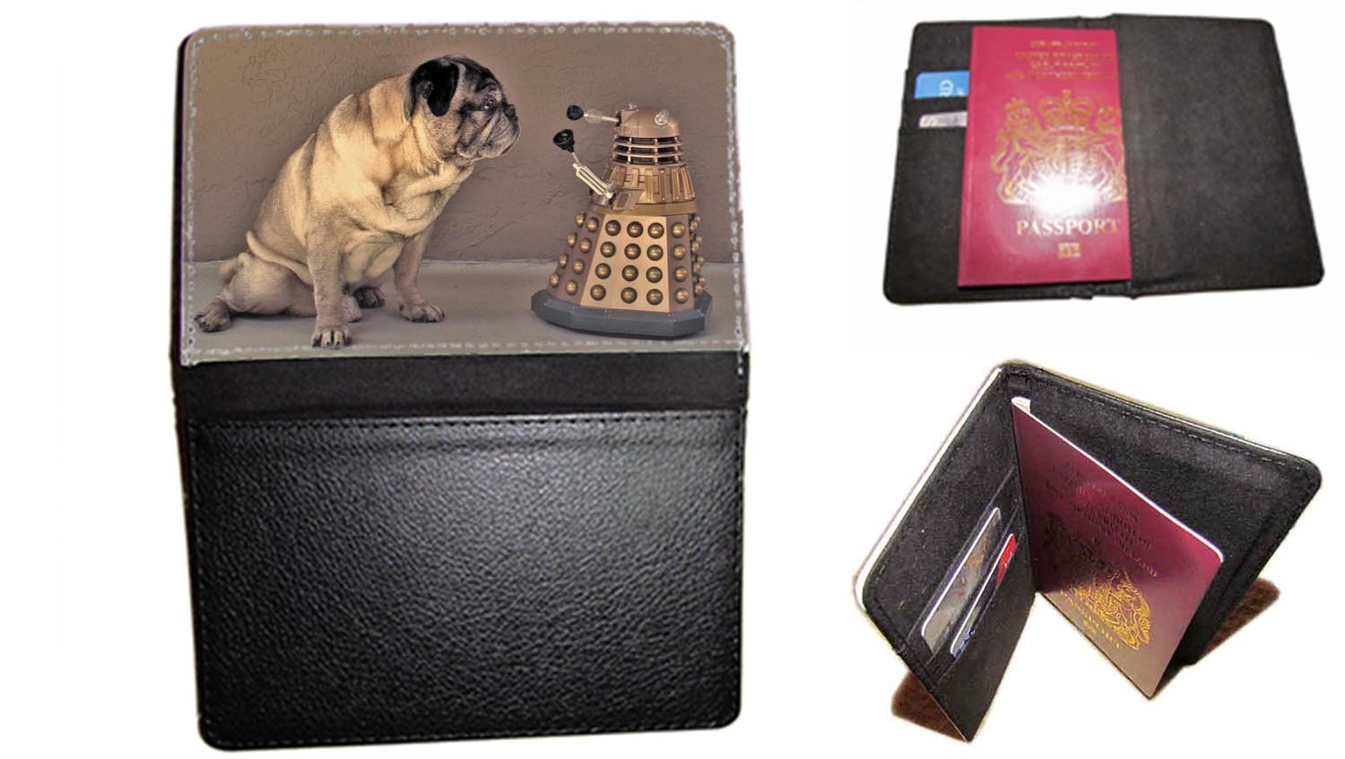 passport cover MOPS Dalek Doctor Who passt Travel Fall UK Passport Dokument