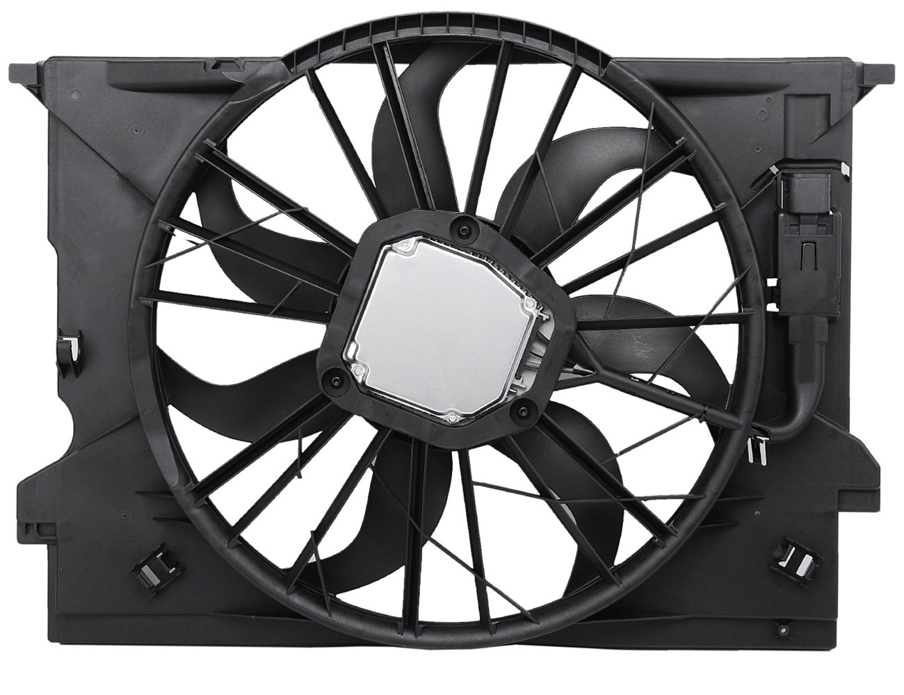 TOPAZ 2115001693 Radiator Cooling Fan Assembly for Mercedes W211