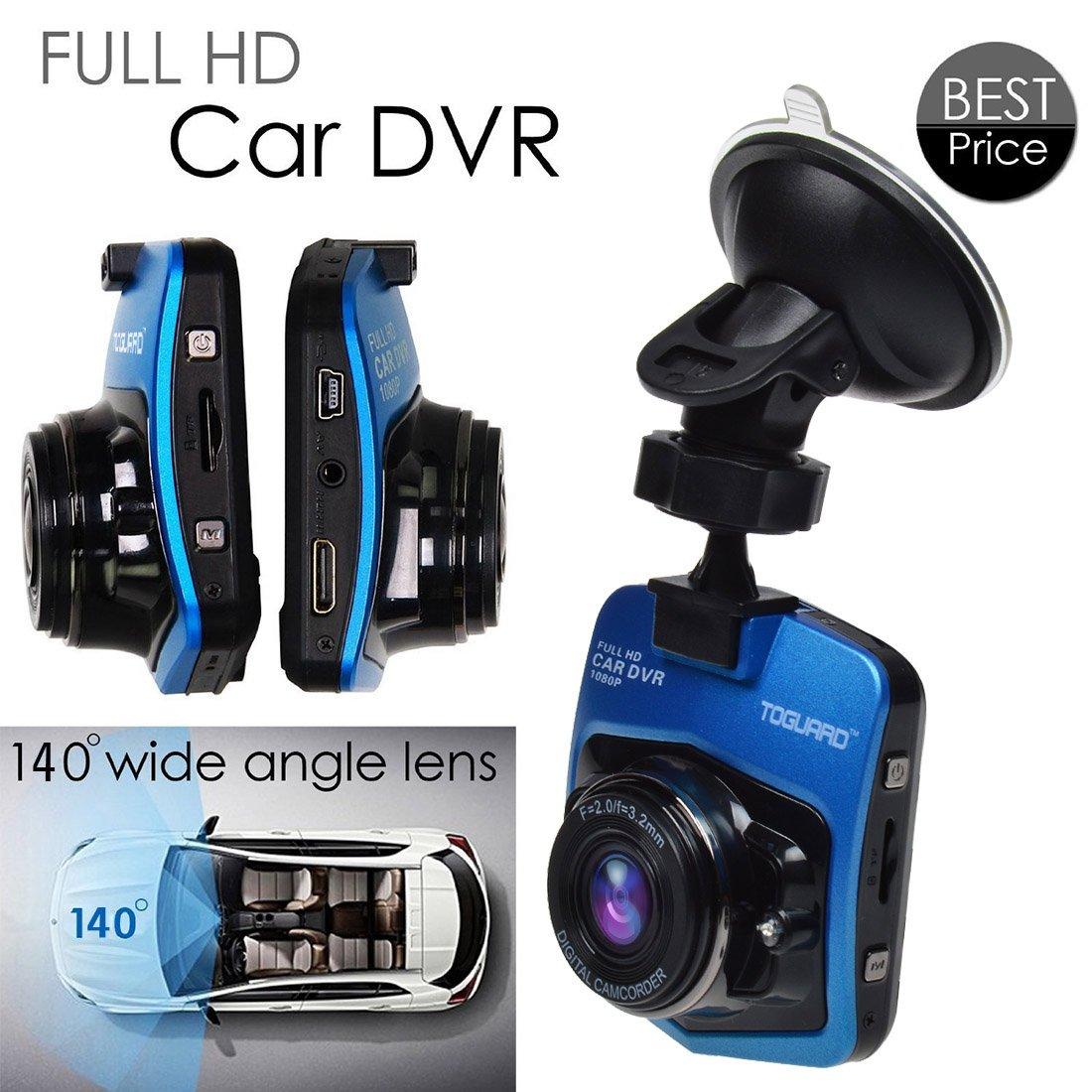 Amazon com toguard 2 46 lcd full hd 1080p dashcam car dvr camera novatek nt96220 g sensor parking monitor motion detection loop recording night vision