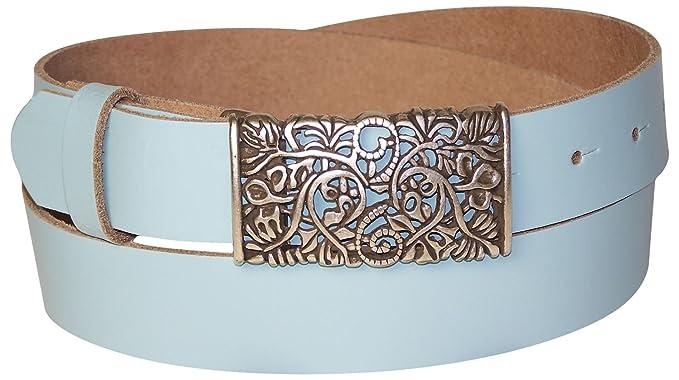 fab5777f65ba Fronhofer Ceinture pour femme 3 cm, ceinture en cuir, boucle de ceinture  florale,