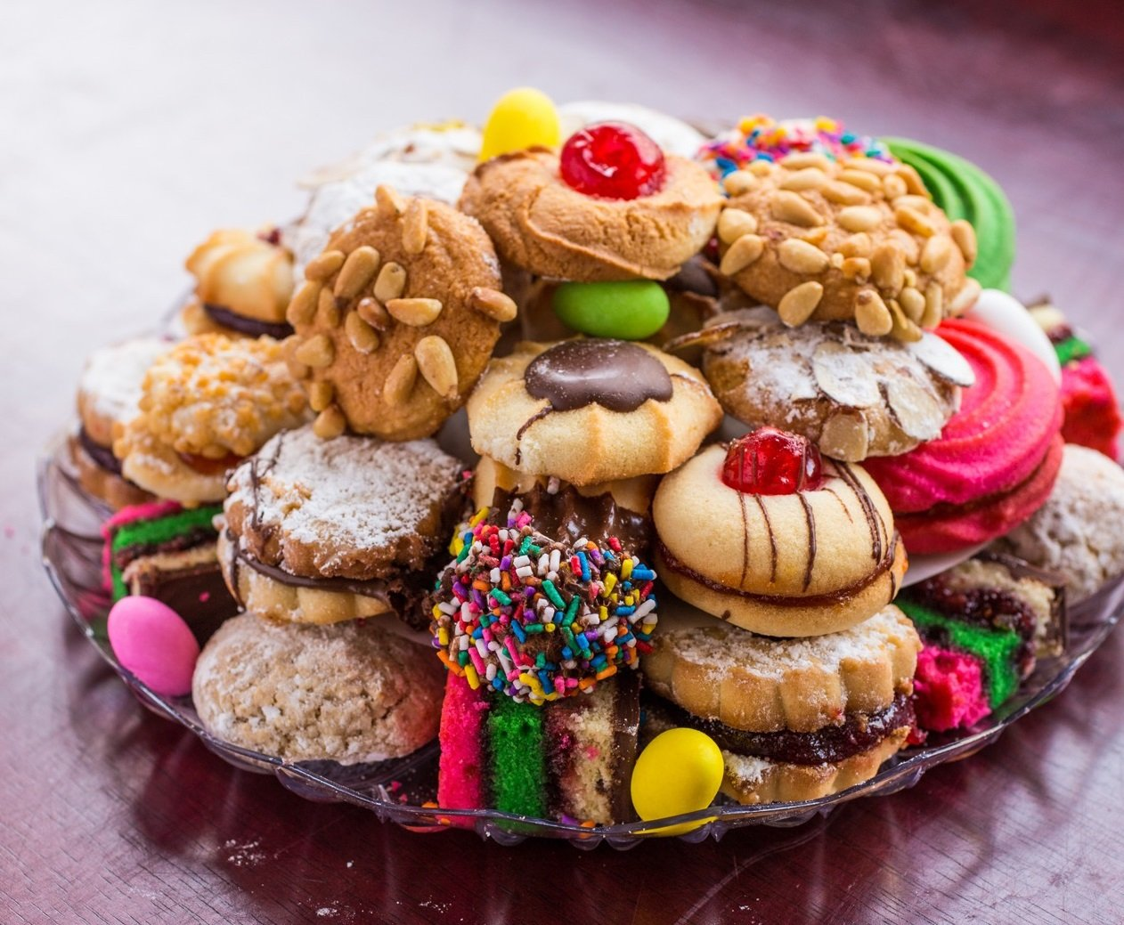 Christmas Cookie Trays.Italian Cookies 2 Lb Cookie Tray