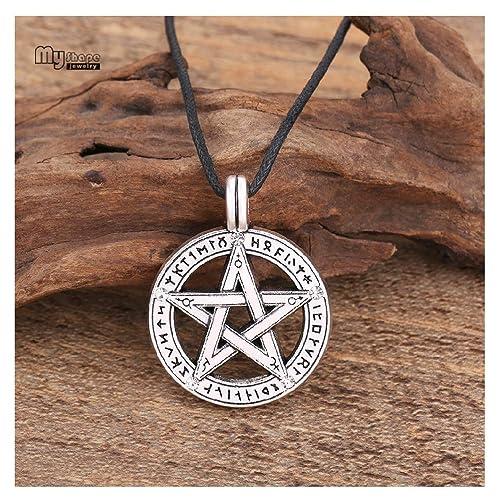 LQT Ltd - Collar con Colgante de Pentagrama en Forma de pentáculo ...