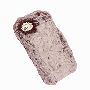 best service eb2b6 a9329 iPhone 5s Case, iPhone 5 Furry Case, iPhone SE Cover, Lifetrut Soft Cute  Fluffy Faux Fur Vintage Plush Wool Bling Sparkle Case Cover Skin for iPhone  ...
