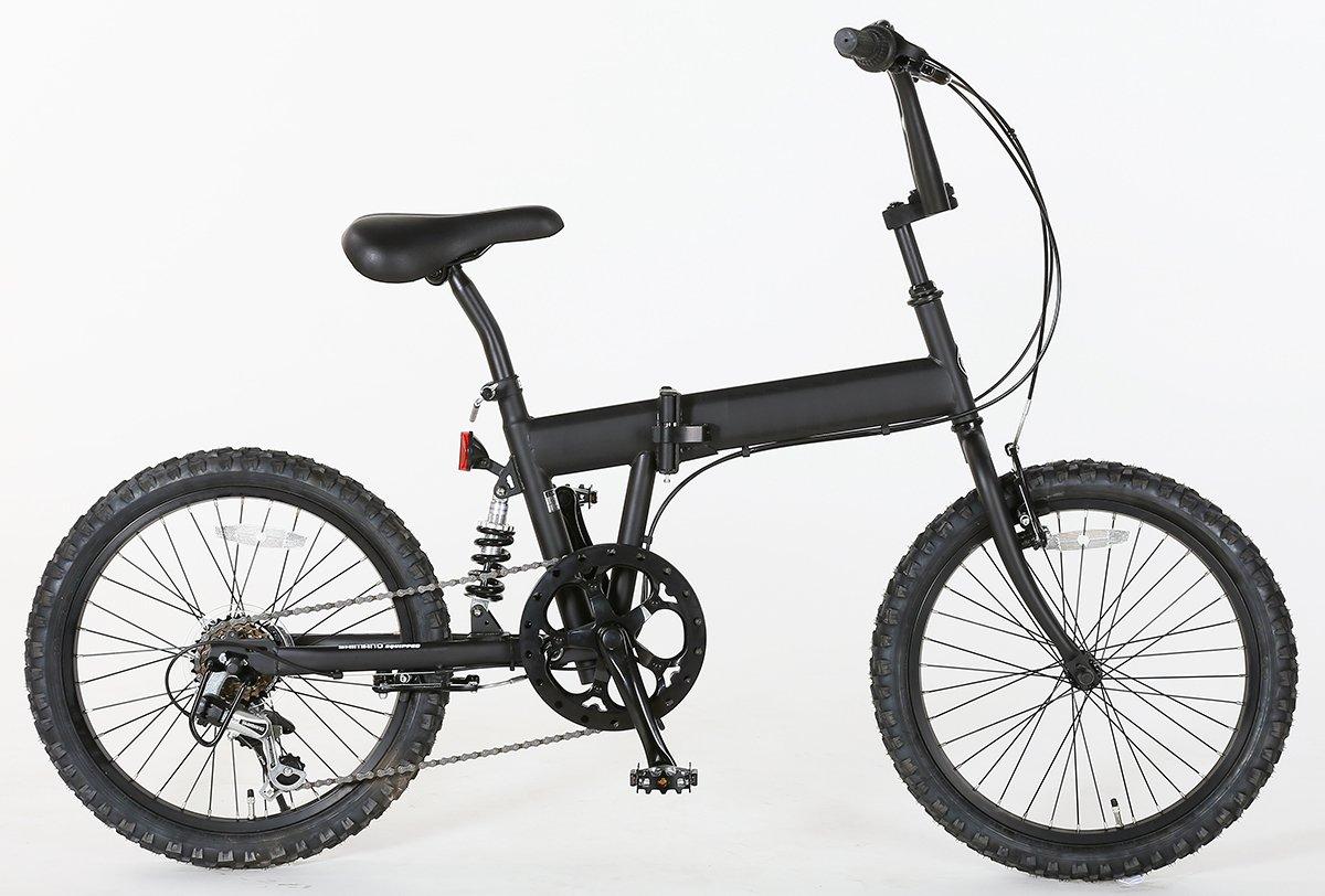 折りたたみ BMX X-206 20インチ 6段変速 自転車 20インチ マットブラック B075C34HT2