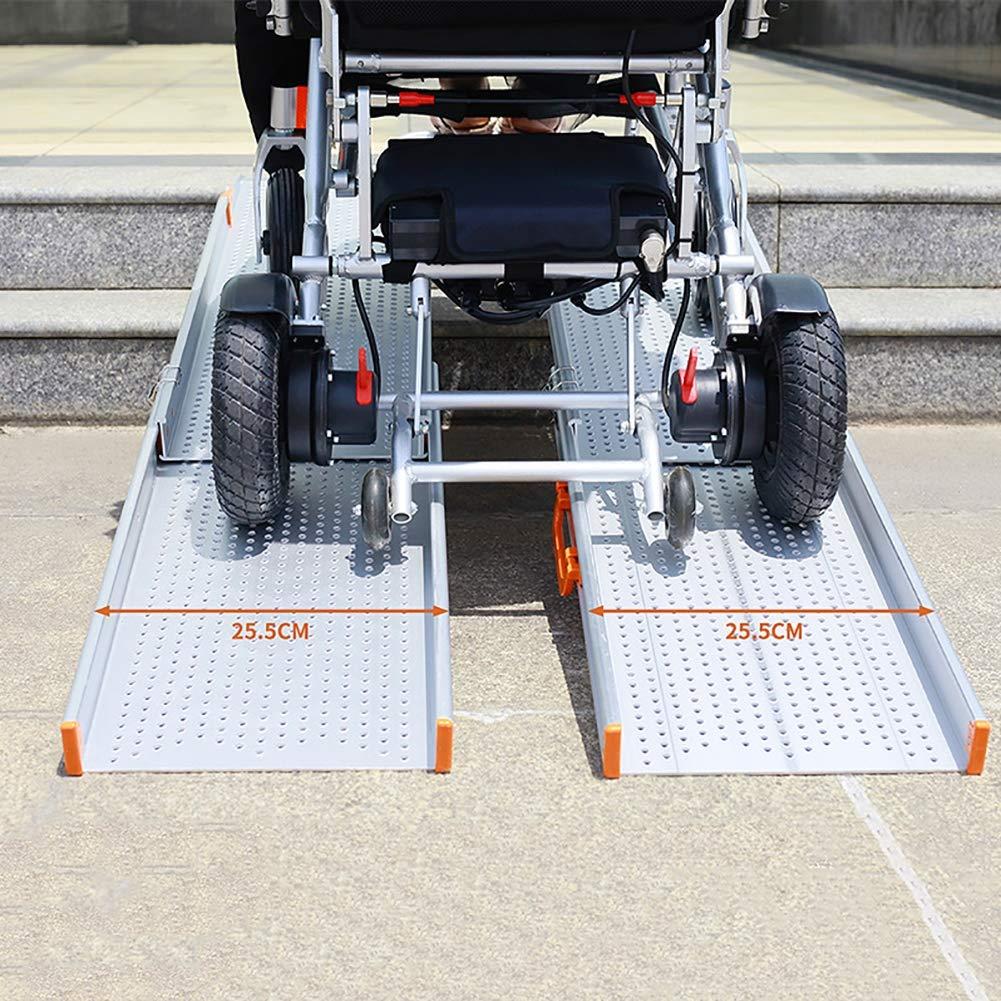 本店は スロープ車椅子のスクーターペット緊急病院、家の実用性のための携帯用アルミニウム折る傾斜路 2.1m 2.1m B07PBWFFCF B07PBWFFCF, カシワシ:a1224ff7 --- a0267596.xsph.ru