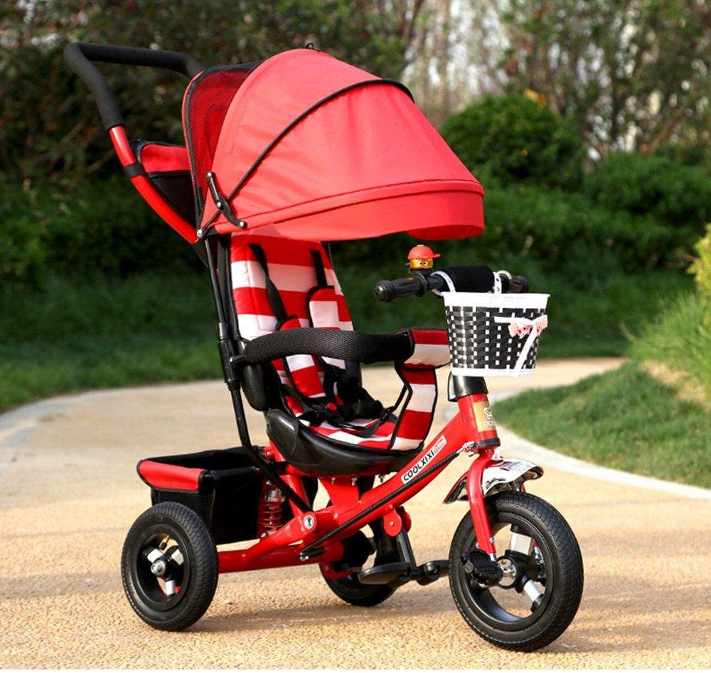 Amazon.com: YD cochecito de bebé plegable para triciclo ...