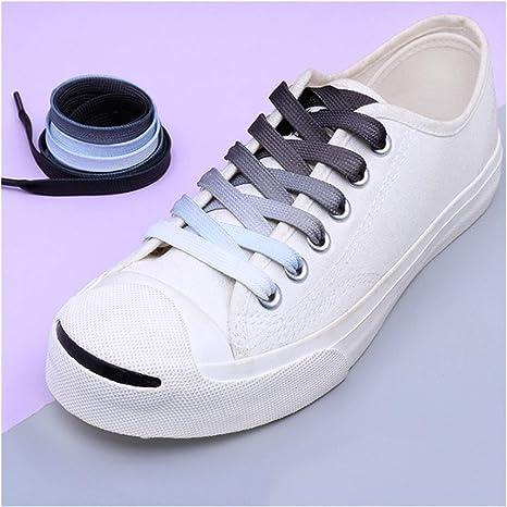 1 Pair Shoeslace Rainbow Flat Canvas Athletic Sport Sneaker Boots Shoe Laces