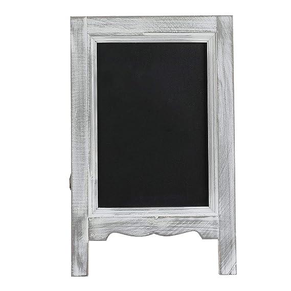 Amazon.com: Mini tablero de madera de 15 pulgadas con marco ...