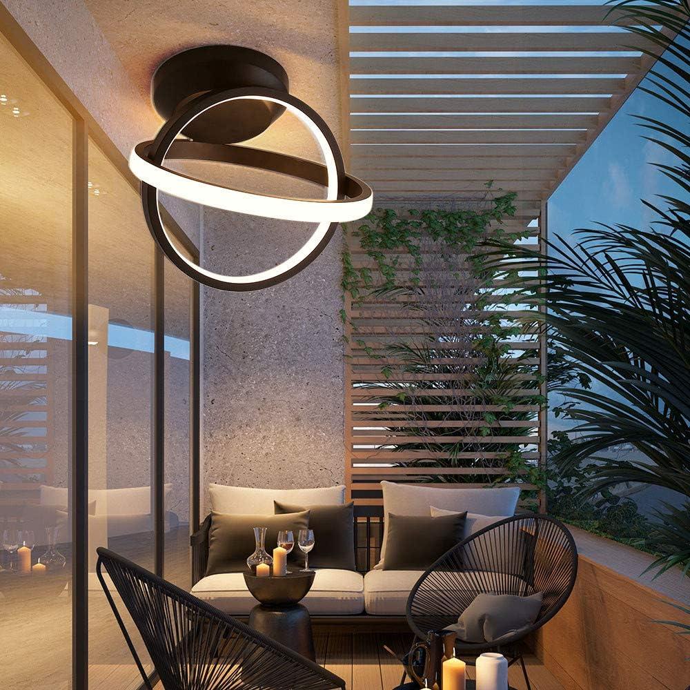 L/ámpara de techo interior moderna Luz c/álida Pasillo Pasillo Balc/ón Hierro forjado n/órdico LED Luz de techo Iluminaci/ón 20W 220V Luminaria