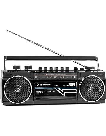 auna Duke • Minicadena • Radiocassette • Radio FM • Puerto USB compatible con MP3 •