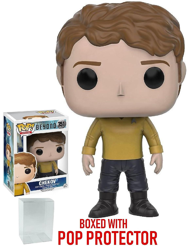 Star Trek Beyond Bundled with Pop BOX PROTECTOR CASE Chekov Duty Uniform Vinyl Figure Funko POP TV
