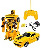 Fantasy Kid's India One Button Transforming Car Convert Into Robot Action Figure (Yellow,n sz-famouscar-6298-white01)