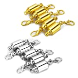 Amazon Price History for:LolliBeads (TM) Strong Magnetic Clasps Clever Clasp Built-In Safety Magnetic Lock with Lobster Clasp For Jewelry Making DIY- Barrel Style Silver/Gold Plated (10 Pcs)