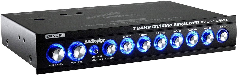 Audiopipe EQ-709X 7 Band 9.V Half DIN Graphic Car Audio Equalizer EQ 2 Pack