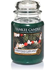 Yankee Candle Large Jar Scented Candle, Christmas Garland, Up to 150 Hour Burn Time