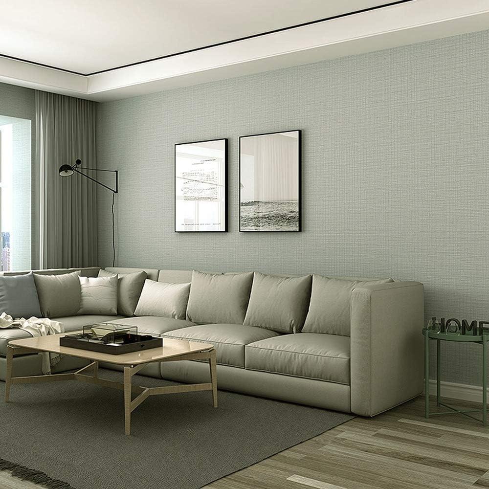 Solide Couleur Lin Papier Peint Moderne Salon Chambre TV Fond Mur D/écor /À La Maison PVC Papier Peint Rouleaux-0,6 5 m/_1