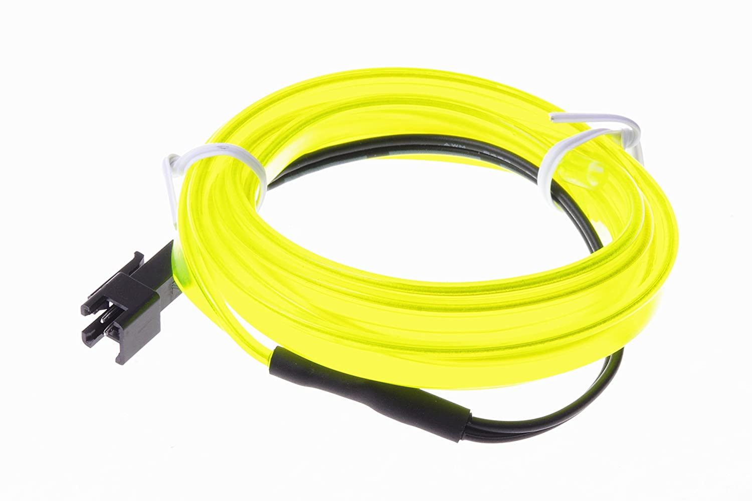 SMAKN 1M EL Wire Neon Flexible Glow Light Rope for Car Dance Party Adorn Strip Yellow LEPAZIA2559