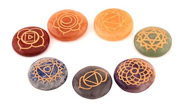 Amazon.com: Cristales de curación 7 piedras Pulido, grabado ...