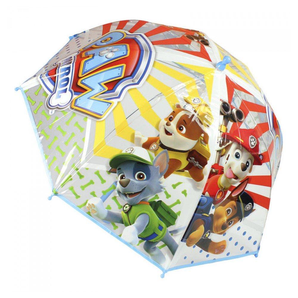 Billante y colorido paraguas de la Patrulla Canina.