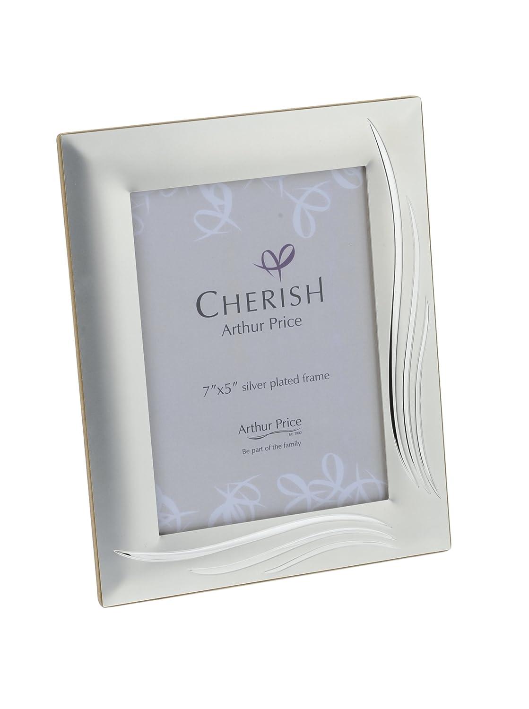 Cherish Arthur Price - Portafoto cornice placcata in argento, 13 x 18 cm