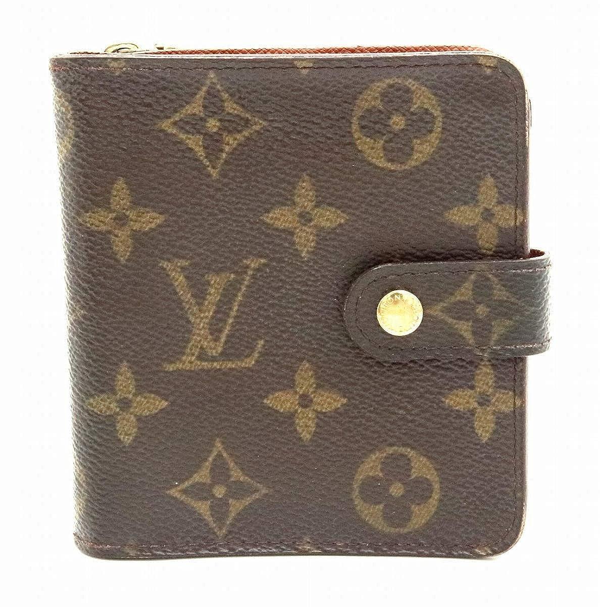 [ルイ ヴィトン] LOUIS VUITTON モノグラム コンパクトジップ コの字型 2つ折ファスナー財布 M61667 [中古]   B07QZFHM65