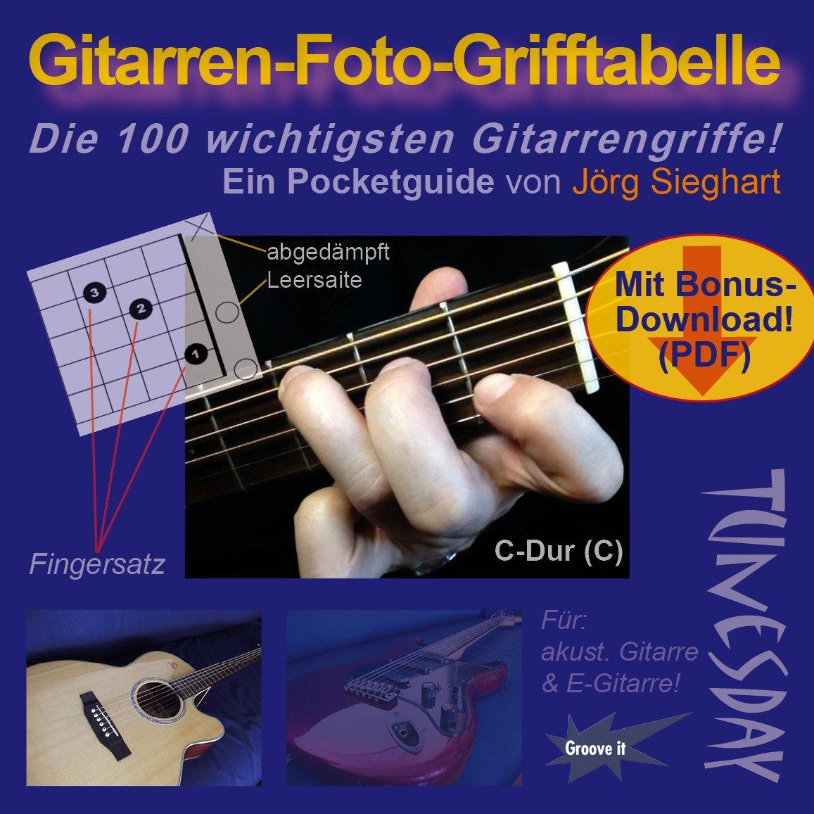 Gitarren-Foto-Grifftabelle im Taschenformat - Akkordtabelle für ...