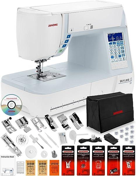 Janome Skyline S3 máquina de coser computarizada con cubierta ...