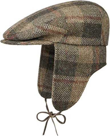 Stetson Gorra Virgin Wool Check Ear Flaps Hombre - Made in Germany ...