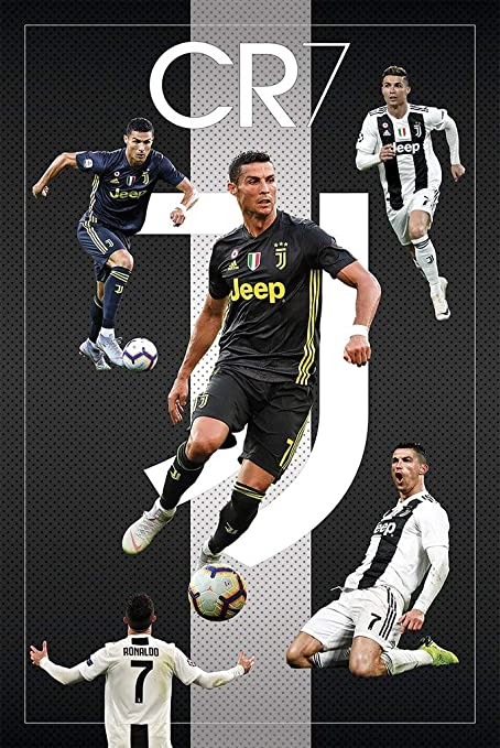 Amazon Com Cr7 Cristiano Ronaldo Juventus Fc Sports Soccer Poster 24in X 36in Home Kitchen