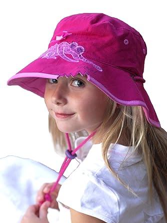 a5f07edc9eb46c Amazon | (サングローブ) Sunglobe UVカット 帽子(子供用) - キッズ ハット - ワイド バケット  カラー:クロコダイル(ピンク) サイズ:52cm、55cm | 帽子 通販