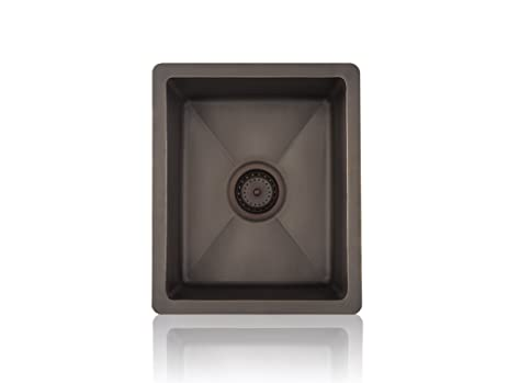 Lenova CK-200 Copper Prep Square Top-Mount/Under-Mount Kitchen ...