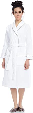 Be Relax Short Women's Terry Cotton Bath Robe - Toweling with Belt - Raspberry