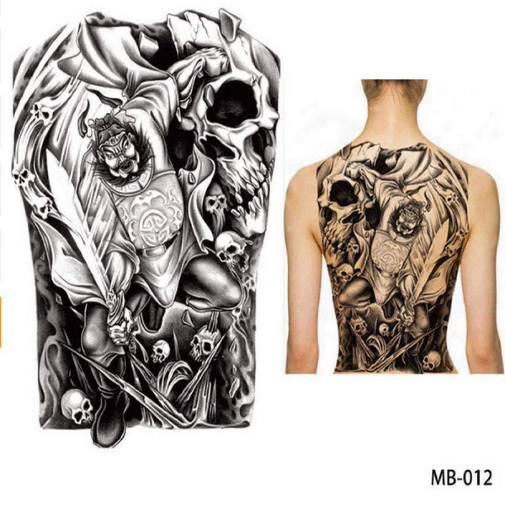 Modeganqing 2 Piezas Tatuaje Espalda Pecho Grande Pegatina Lobo ...