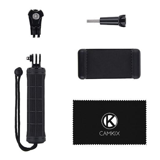 La estabilización de empuñadura para GoPro HERO 5 / 4, Session, Black, 3+, 3 y la mayor parte de Camaras Compactas & Telefonos inteligentes - Adaptador de ...