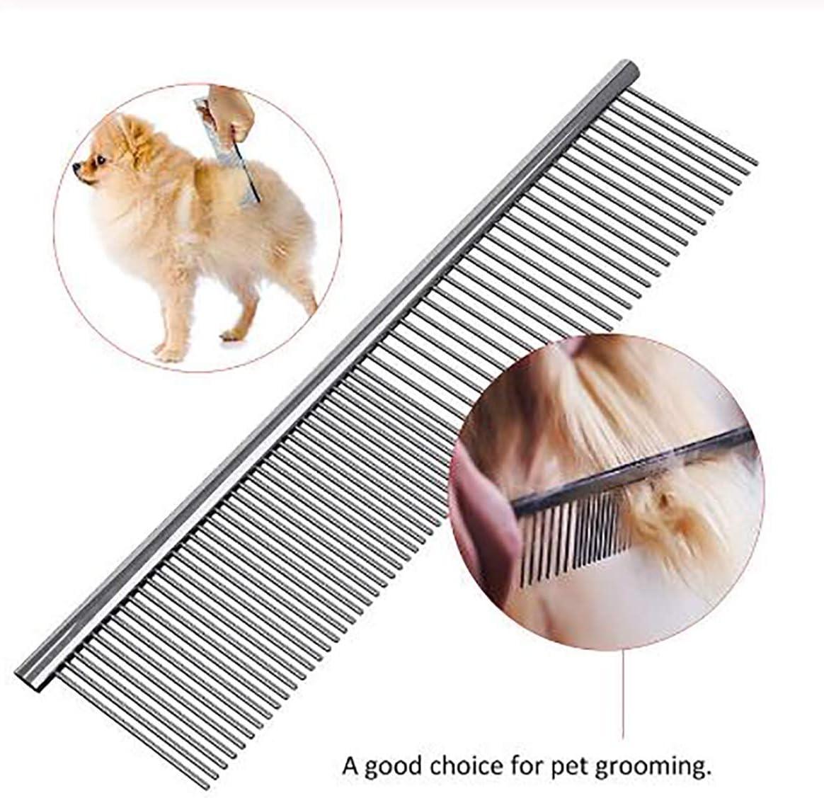 JUNRONG 2 peines para mascotas Profession de acero inoxidable ...