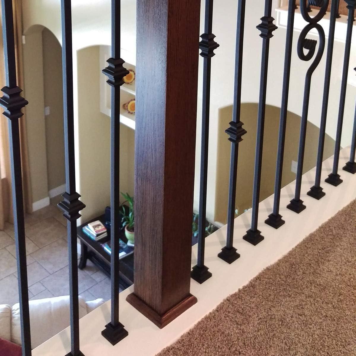 15x One Twist Vidagoods 5// 10// 15 x Matte BLACK Iron Balusters Iron Spindles METAL Stair Parts