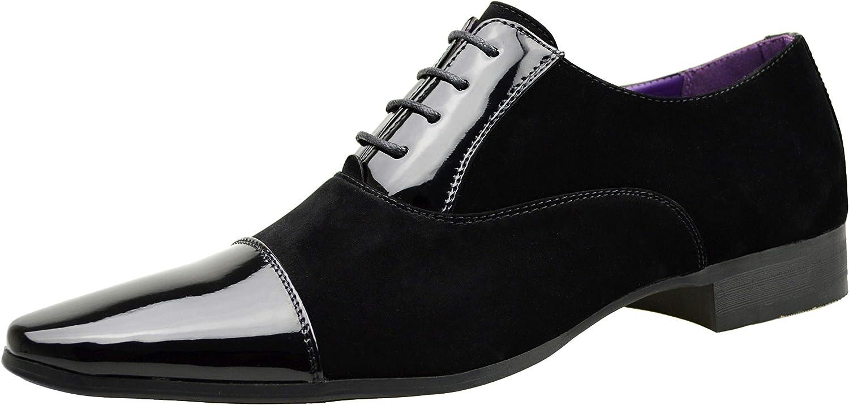 ClassyDude - Zapatos de cordones para hombre negro negro