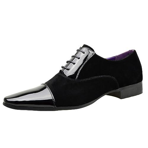 zapatos deportivos cf2ff bd9d0 ClassyDude - Zapatos de cordones para hombre negro negro