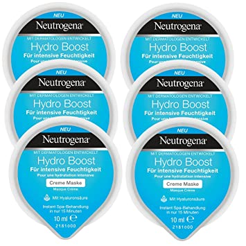 Neutrogena Hydro Boost Crema Máscara - 6 Unidades x 10 ml.: Amazon.es