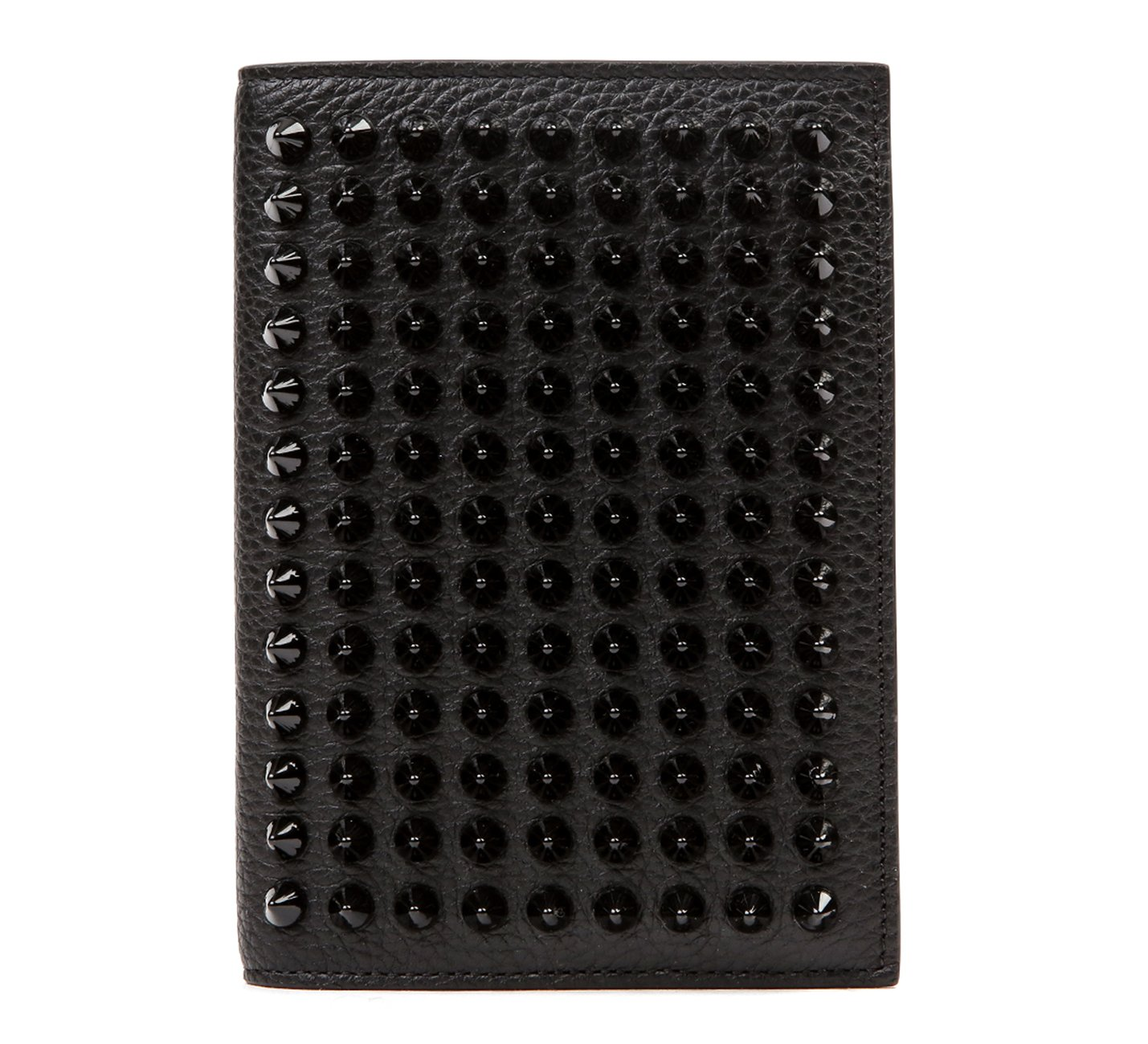 Wiberlux Christian Louboutin Unisex Studded Passport Wallet One Size Black by Wiberlux