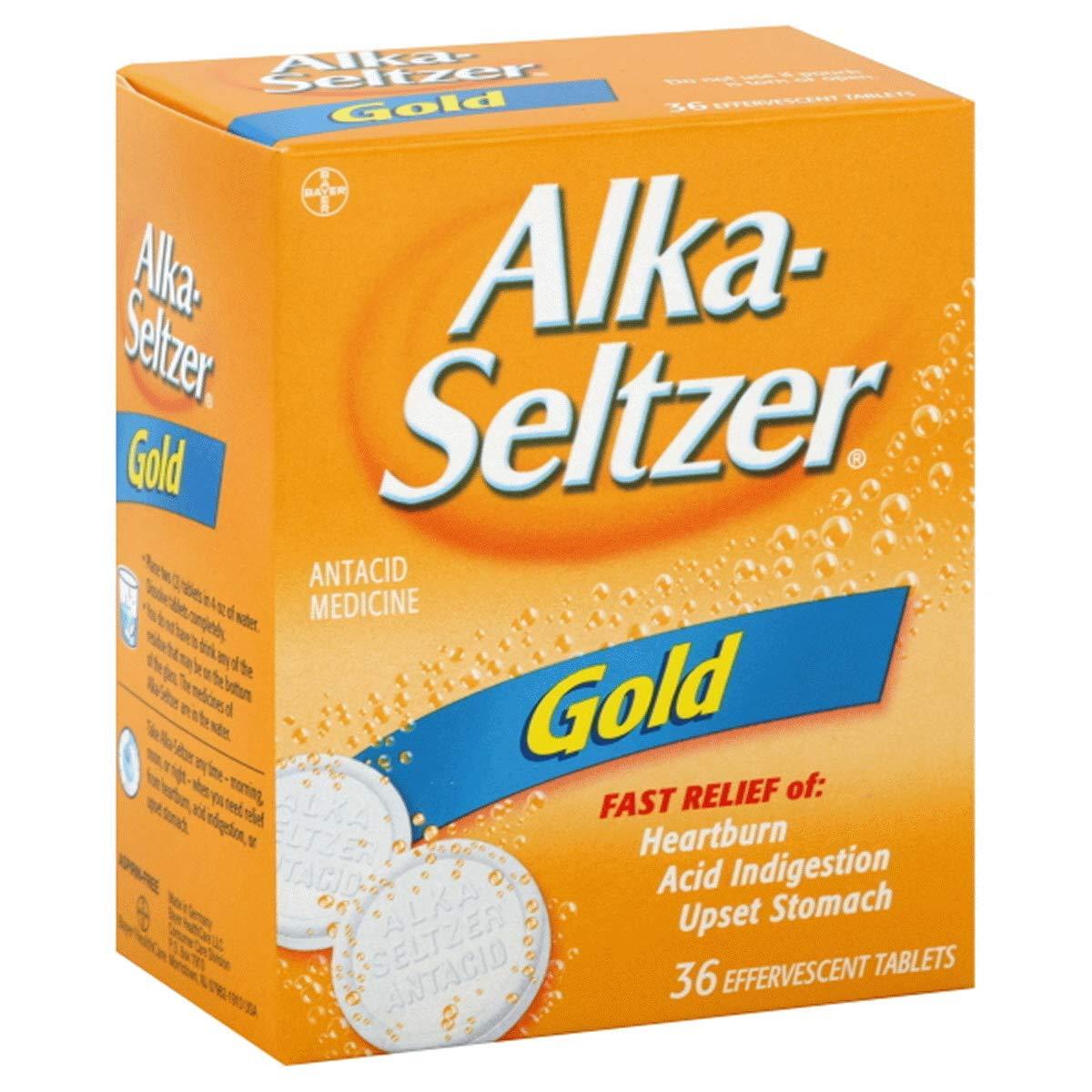 Alka-Seltzer Effervescent Gold - 36 Tablets, Pack of 3 by Alka-Seltzer