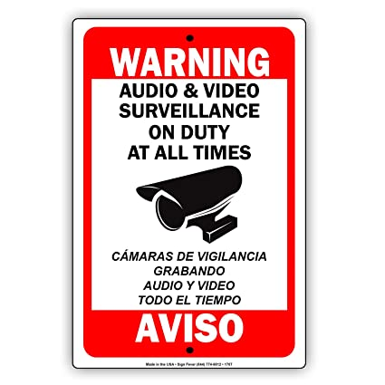 Advertencia en el servicio de vigilancia de audio y vídeo en ...