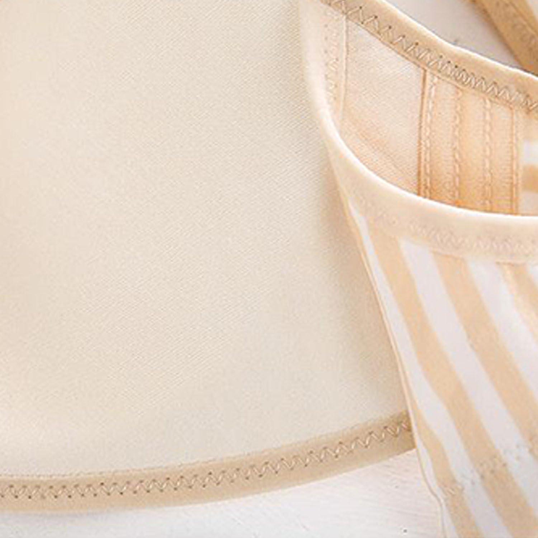 Qian QAN Women Comfy Cotton Nursing Maternity Sleep Bra Wireless Front Closure Bralette Breastfeeding